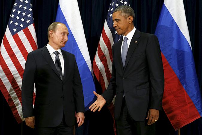 Les présidents Poutine et Obama, siège de l'ONU, New-York, 29 septembre 2015